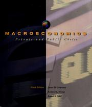 Cover of: Macroeconomics: private and public choice