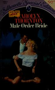 Cover of: Male order bride