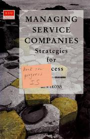 Cover of: Managing service companies: strategies for success