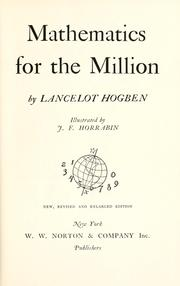 Cover of: Mathematics for the million.