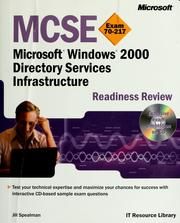 Cover of: MCSE Microsoft Windows 2000 directory services infrastructure readiness review exam 70-217