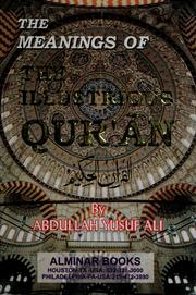 Cover of: The meanings of the illustrious Quran: without Arabic txt