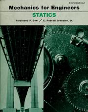 Cover of: Mechanics for engineers: statics