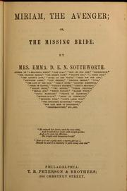 Cover of: The missing bridge, or, Miriam, the avenger