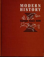 Cover of: Modern history: Europe since 1600