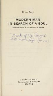 Cover of: Modern man in search of a soul