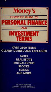Cover of: Money's Complete guide to personal finance and investment terms