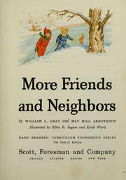 Cover of: More friends and neighbors