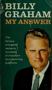 Cover of: My answer