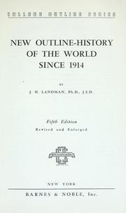 Cover of: New outline-history of the world since 1914