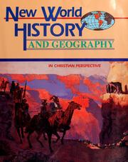 Cover of: New World history and geography in Christian perspective