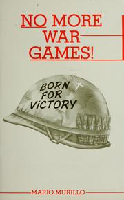 Cover of: No more war games