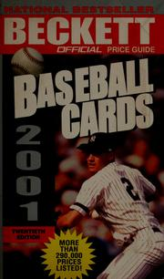 Cover of: The official 2001 price guide to baseball cards