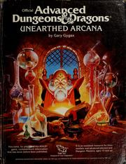 Cover of: Official advanced dungeons & dragons, unearthed arcana: by Gary Gygax.
