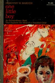 Cover of: One little boy.