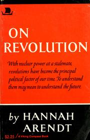 Cover of: On revolution