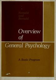 Cover of: Overview of general psychology: a basic program