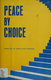 Cover of: Peace by choice