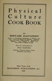 Cover of: Physical culture cook book