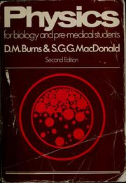 Cover of: Physics for biology and pre-medical students
