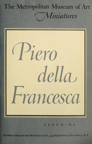 Cover of: Piero della Francesca: about 1420-1492.