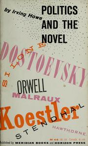 Cover of: Politics and the novel