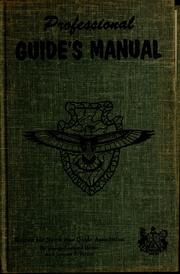 Cover of: Professional guide's manual
