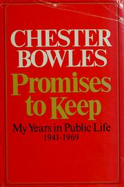 Cover of: Promises to keep: my years in public life, 1941-1969