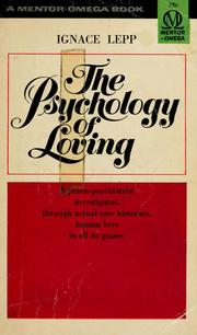 Cover of: The psychology of loving