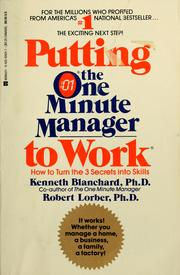 Cover of: Putting the one minute manager to work