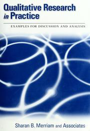 Cover of: Qualitative research in practice: examples for discussion and analysis