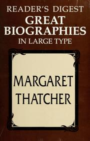 Cover of: Reader's Digest Great biographies in large type: Margaret Thatcher.