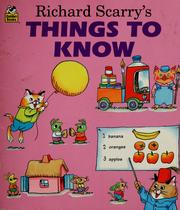 Cover of: Richard Scarry's Things to Know