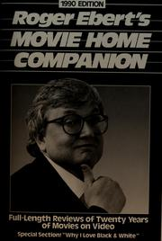 Cover of: Roger Ebert's movie home companion