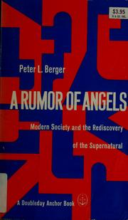 Cover of: A rumor of angels: modern society and the rediscovery of the supernatural.