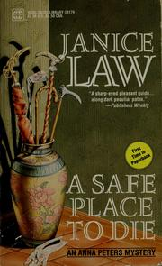 Cover of: A safe place to die