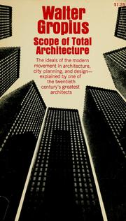 Cover of: Scope of total architecture