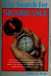 Cover of: The search for significance