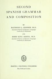 Cover of: Second Spanish grammar and composition