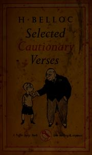 Cover of: Selected cautionary verses