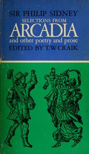 Cover of: Selections from Arcadia and other poetry and prose
