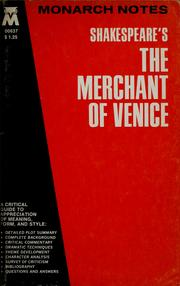 Cover of: Shakespeare's The Merchant of Venice