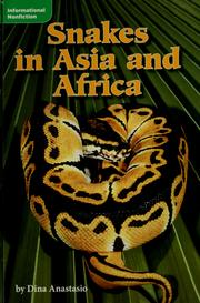 Cover of: Snakes in Asia and Africa