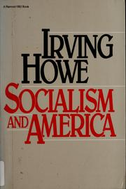 Cover of: Socialism and America