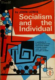Cover of: Socialism and the individual.