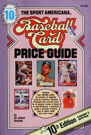 Cover of: The Sport Americana baseball card price guide: no. 10