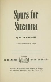 Cover of: Spurs for Suzanna