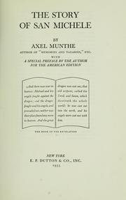 Cover of: The story of San Michele