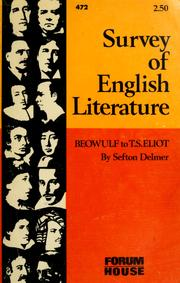 Cover of: Survey of English literature: Beowulf to T.S. Eliot