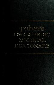 Cover of: Taber's Cyclopedic medical dictionary.